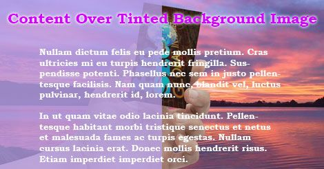 Tinted Background Image Divi Licious