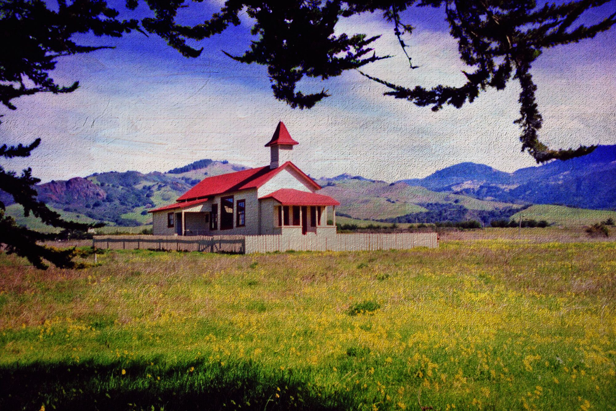 San Simeon School House - Photogreaphed in 1987
